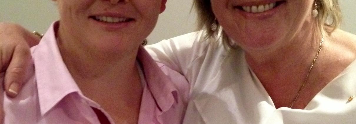 Kelly Humphries and Hetty Johnston