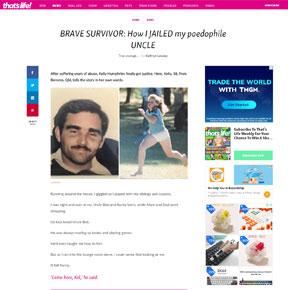 Brave survivor: how I jailed my paedophile uncle