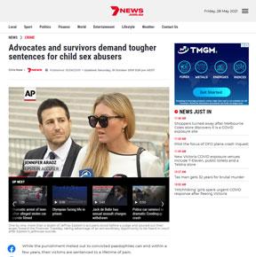 Adovcates and survivors demand tougher sentences for sex abusers - 7news