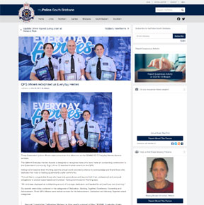 QPS officers recognised as Everyday Heroes